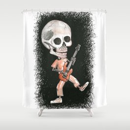 Music Skully Shower Curtain