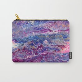 Psycho - Stream of Consciousness in Lively Color Flow by annmariescreations Carry-All Pouch