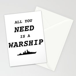 World of Warships - All you need is a Warship Stationery Cards