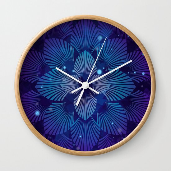 Variations on a Feather III - Raven Wing Deconstructed Wall Clock