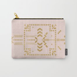 Boho Totem Pink & Gold Carry-All Pouch