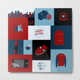 Spider-man Homecoming Minimalist Metal Print