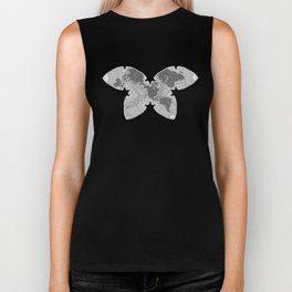 Butterfly Map SF/BW Biker Tank