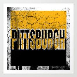 Pittsburgh Steel City 412 Pride Vintage Sign Art Print