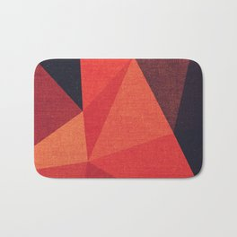 Abstract geometric patter.Triangle background Bath Mat
