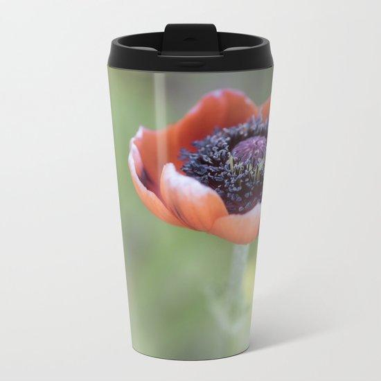 Tiny poppyblossom in LOVE Metal Travel Mug