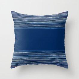 Blue thread , abstract Throw Pillow