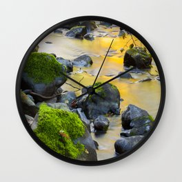 Grizzly Creek In The Fall Wall Clock