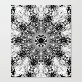 Blac White Mandala Abstract Canvas Print