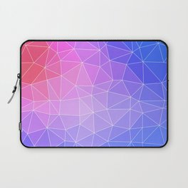 Abstract Colorful Flashy Geometric Triangulate Design Laptop Sleeve