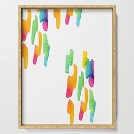 Abstract Painting Modern Art watercolor abstract art minimalist Follow Your Heart no.5 Serving Tray