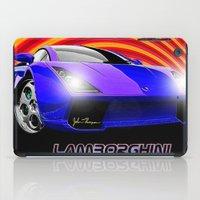lamborghini iPad Cases featuring Lamborghini Gallardo (2) by JT Digital Art