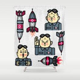 Kim Jong Un Rockets Shower Curtain