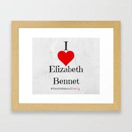 I heart Elizabeth Bennet - Pride and Prejudice - Jane Austen Framed Art Print