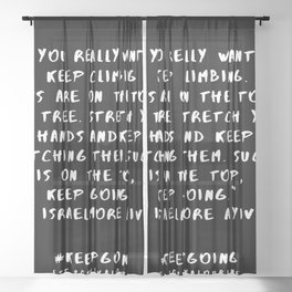 9 | Keep Going Quotes 190512 Sheer Curtain