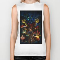 mother of dragons Biker Tanks featuring DRAGONS!! by Yahualli