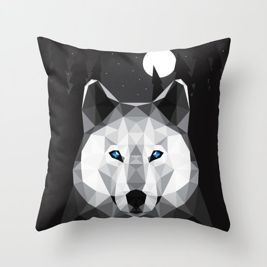 The Tundra Wolf Throw Pillow