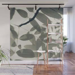 Light Green Forest Leaves Abstract Wall Mural