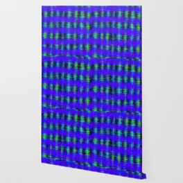 plaid pattern abstract texture in blue green black Wallpaper