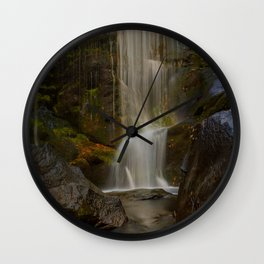 Smooth Waterfall (Color) Wall Clock