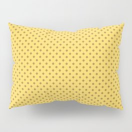 black triangle ornate on a yellow background Pillow Sham