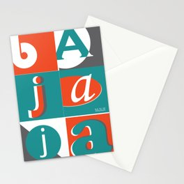 Bajaja Typo Stationery Cards