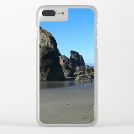 Beauty On Ruby Beach Clear iPhone Case