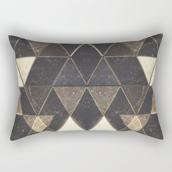 Triangles XXVII Rectangular Pillow