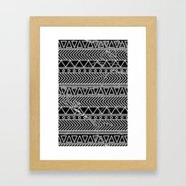 tribal marble Framed Art Print