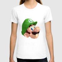luigi T-shirts featuring Luigi Poster by Rebekhaart