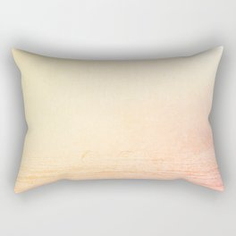 Modern abstract orange summer ombre pattern Rectangular Pillow