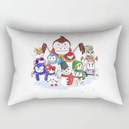 Snow-Game Rectangular Pillow
