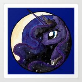 Night's Princess Art Print