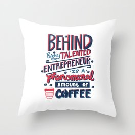 Talented Entrepreneur Throw Pillow