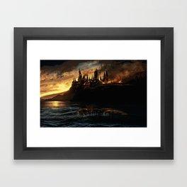 Harry Potter - Hogwart's Burning Framed Art Print