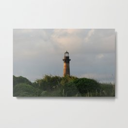 lighthouse out of focus Metal Print