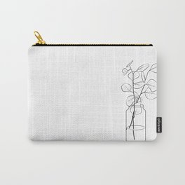 Eucalyptus Branch in a Vase Carry-All Pouch