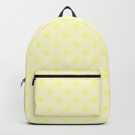 Electric Yellow on Cream Yellow Snowflakes Backpack