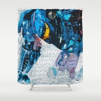 pacific rim Shower Curtains featuring Pacific Rim: Gipsy Danger by Bolin Cradley Art