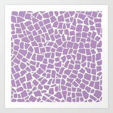 British Mosaic Orchid Art Print
