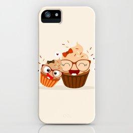 Maman cupcake praliné iPhone Case
