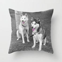 Nika and Blu Throw Pillow