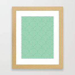 Scales - Greens #582 Framed Art Print