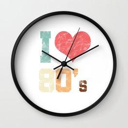 I Love 80's Wall Clock