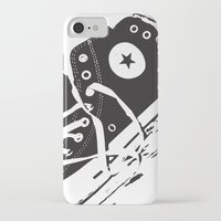 converse iPhone & iPod Cases featuring CONVERSE by PixelRiff