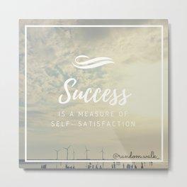 Measuring success Metal Print