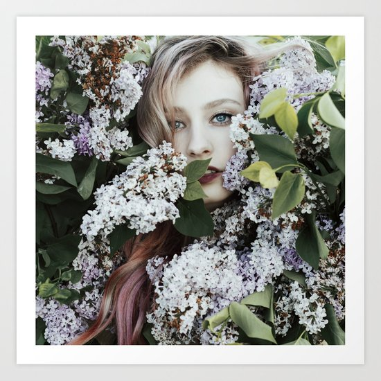 Lilac girl Art Print