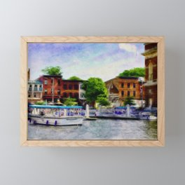 Fells Point Water Taxis, Nautical, Baltimore, Maryland  Framed Mini Art Print