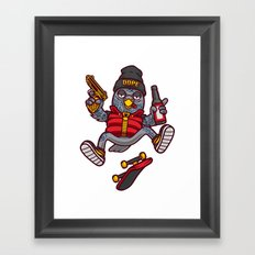 Wild scum. Having fun Framed Art Print