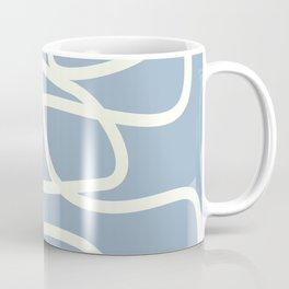 Maze in Gray Blue Coffee Mug